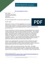 FFRF's Response to City of Miami Beach