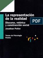 Potter Jonathan - La Representacion de La Realidad