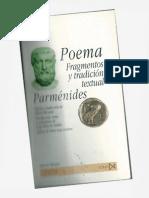 Parménides - Poema, Fragmentos y Tradición Textual