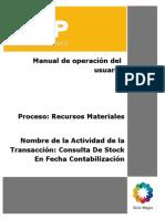 MB5B Consulta de Stock en Fecha Contabilización