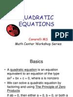 18 quadratic equations