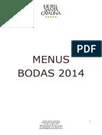 Menus Bodas 2014 Las Palmas