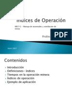 Indices de Operacion