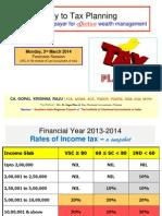 Tax Planning - By CA. Gopal Krishna Raju -- 03.03.14 (1)