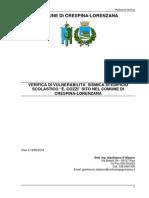 Rapporto Verifica Sismica della scuola di Crespina