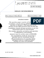 IEcoS Indian Economics 2012