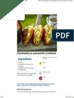 Croissanţi Cu Ouă Jumări Şi Brânză - Good Food Romania