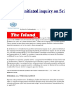 UNHRC Initiated Inquiry on Sri Lanka