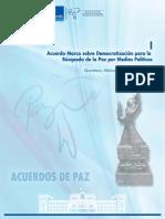 001. Acuerdo Marco Para La Búsqueda de La Paz Por Medios Políticos