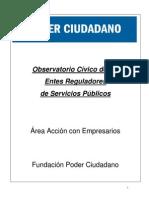 Informe Observatorio Civico de Entes Reguladores Poder Ciudadano