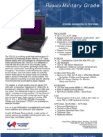 CCX-15 15-Inch LED Backlight Military Grade LCD Keyboard Drawer Datasheet