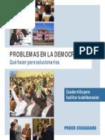 Problemas en La Democracia Que Hacer para solucionarlos Poder Ciudadano