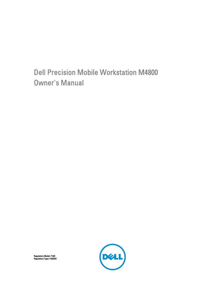 Precision m4800 Workstation Owner's Manual en Us | Advanced