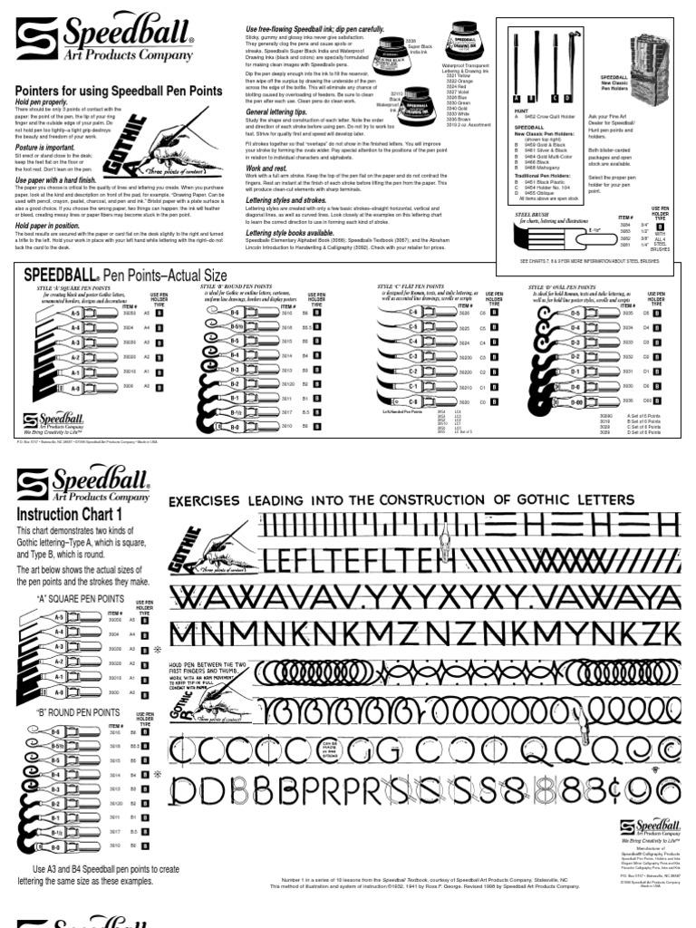 Speedball Lettering /& Drawing Round Pen Nibs B Style B-5 1//2 Individual Nib