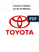 Did Toyota's Culture Causes Its Problems