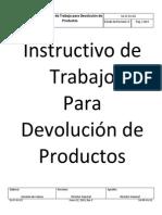 SG-IT-GV-02 Instructivo de Trabajo Para Devolución de Productos