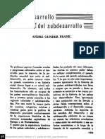 [1967 (1966)] André Gunder Frank. El desarrollo del subdesarrollo (En