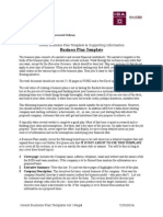 Invent Business Plan Template 2012