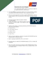 Exercícios de Juros Simples - Matematica II