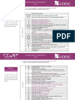 Calendario Acadêmico UDESC 2014