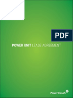Power Units Lease Agreement