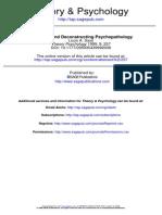 Analyzing and Deconstructing Psychopatology