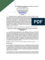 Espectros Para El Distrito Metropolitano de Quito Asocido a Las Fallas de Quito y Nanegalito