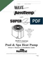 Aquacal Heat Pump Manual Multilanguage