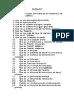 Glosario - Instalaciones de Agua Ricardo Calderon