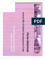 Dallas City Hall Form Districts Packet