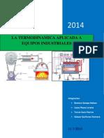 Aplicacion de La Primera Ley de La Termodinamica a Equipos Industriales