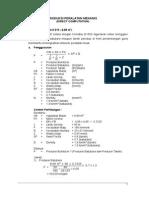 Contoh Soal Produksi Peralatan Mekanis (Direct Computation)