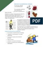 Causas - Consecuencias de Accidentes de Trabajo