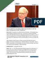 Warren Buffett transcript, March 3, 2014