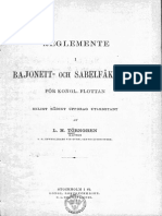 Regulations in Bayonet and Saber Fencing for the Royal Fleet. - Lars Mauritz Törngren Swedish Navy 1882