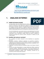 Análisis de Prácticas Empresariales en Plan Estratégico Es Salud
