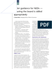 Better guidance for NEDs - ensuring the board is skilled appropriately