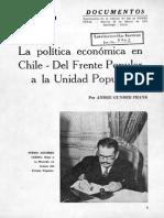 [1972] André Gunder Frank. La política económica en Chile (En