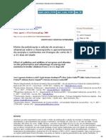 Ciência e Agrotecnologia - Efeito Da Peletização e Adição de Enzimas e Vitaminas Sobre o Desempenho e Aproveitamento Da Energia e Nutrientes Em Frangos de Corte de 1 a 21 Dias de Idade