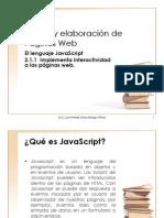 2.1.1 Implementa Interactividad a Las Páginas Web