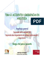 Accidentes y Emergencias en Anestesia