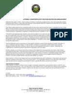 GFO News Release Pesticide Restriction-July 07 2014