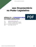 Introdução Ao Orçamento Público - O Processo Orçamentário No Poder Legislativo - Modulo 4