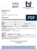 Debt Registration Form May - July 2009