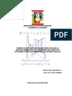 Diseño de Un Cuadro de Mando Para Evaluar La Gestión Administrativa y Financiera Del Instituto Autonomo de Bomberos Del Estado Trujillo (Menor a 2009)