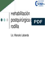 Rehabilitacion de Rodilla Postquirurgica