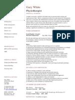 Physiotherapist CV Template