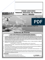 Prova Analista Judiciário - Área Administrativa TRT 21 2010
