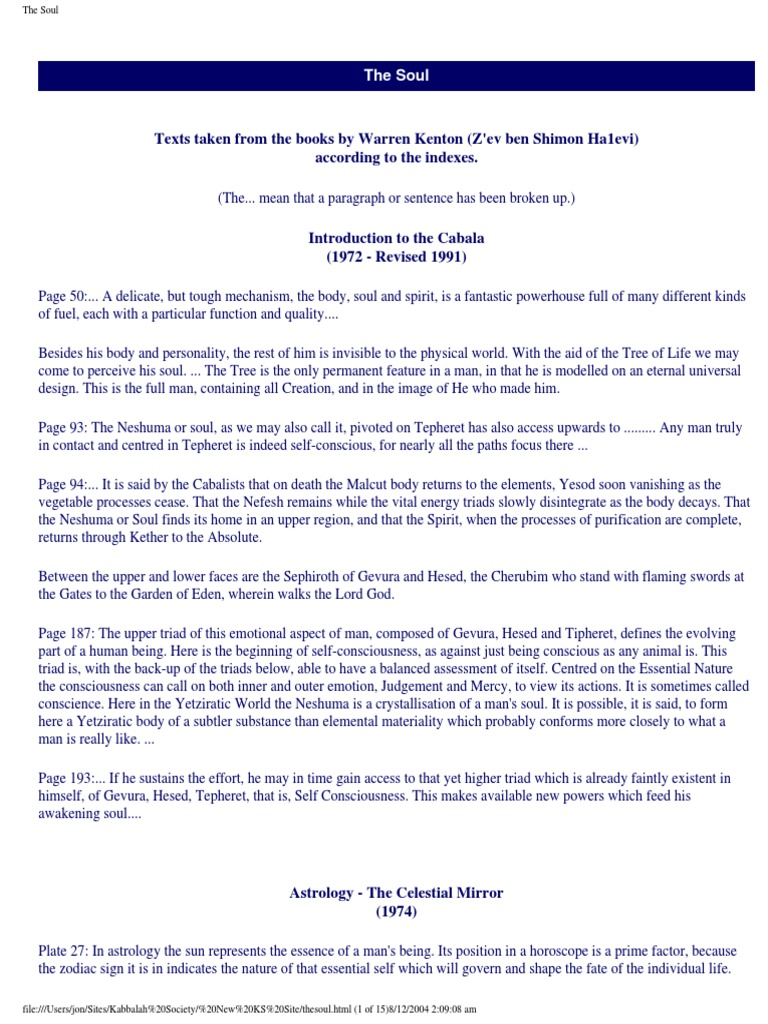 Extracts From all Books Relating to the Soul pdf   Kabbalah