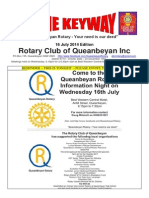 The Keyway - 16 July 2014 Edition - Weekly newsletter of Queanbeyan Rotary